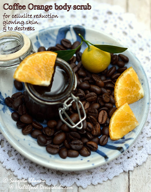 recipe of coffee orange Epsom salt body scrub