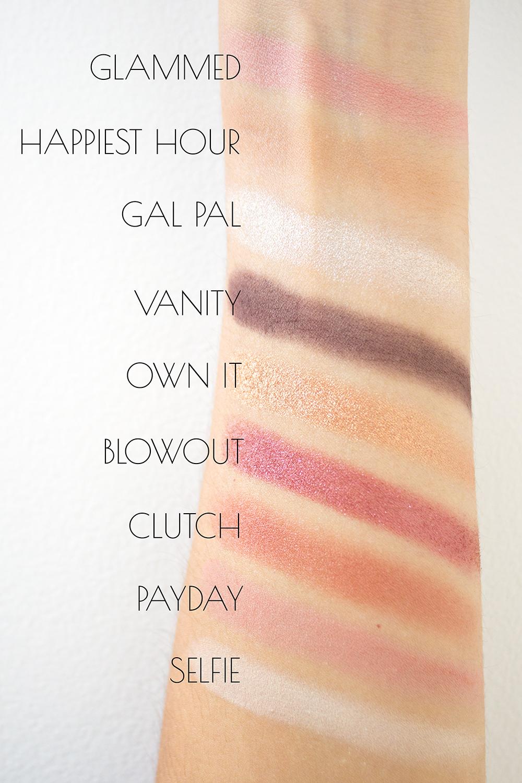 Tarte Ladies Night Palette Swatches