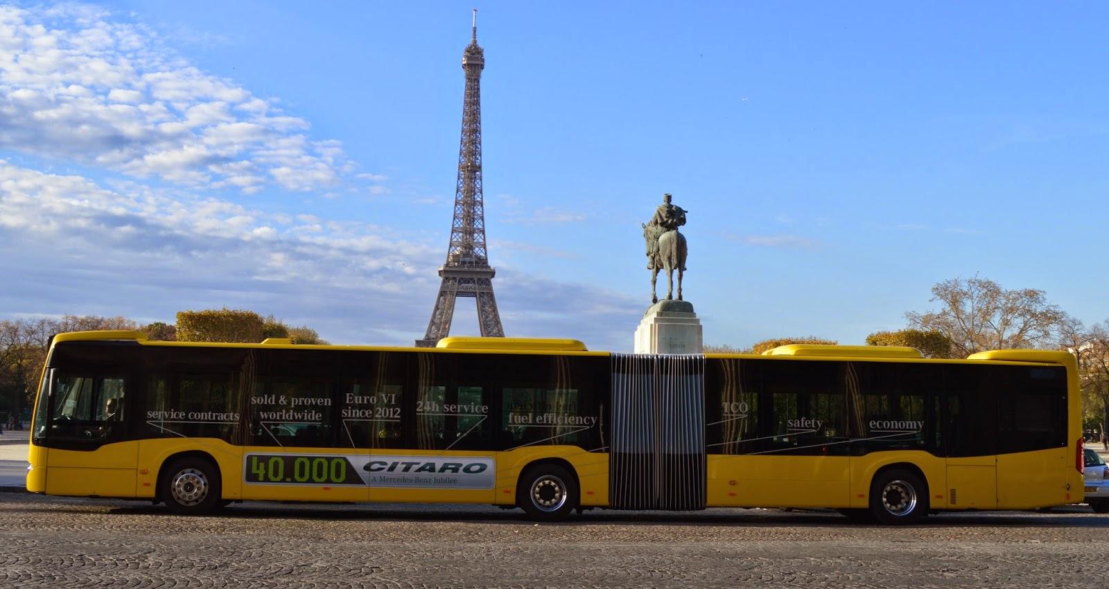 france mercedes citaro articulated bus entered to paris. Black Bedroom Furniture Sets. Home Design Ideas