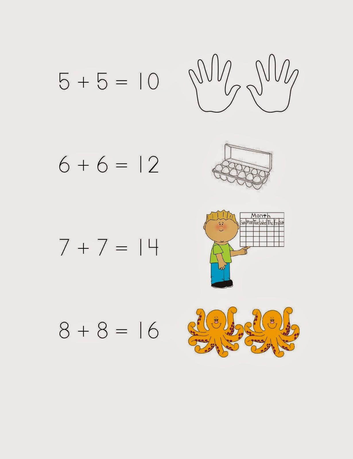 Kaps Elementary Math 1st Grade Adding Doubles Amp Doubles