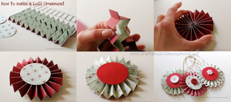 Простая новогодняя игрушка из бумаги своими руками