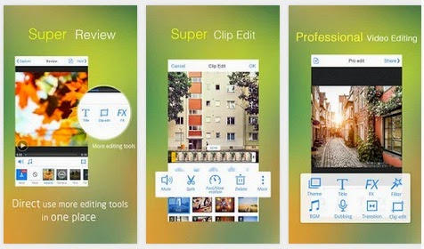 أفضل تطبيق مجاني لتحرير وإنشاء الفيديوهات وعمل مونتاج عليها للأندرويد والأيفون والأيباد VivaVideo: Free Video Editor APK-iOS 5.0.6