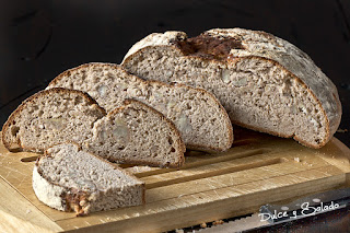 Pan de Harina de Castañas Relleno de Castañas Cocidas