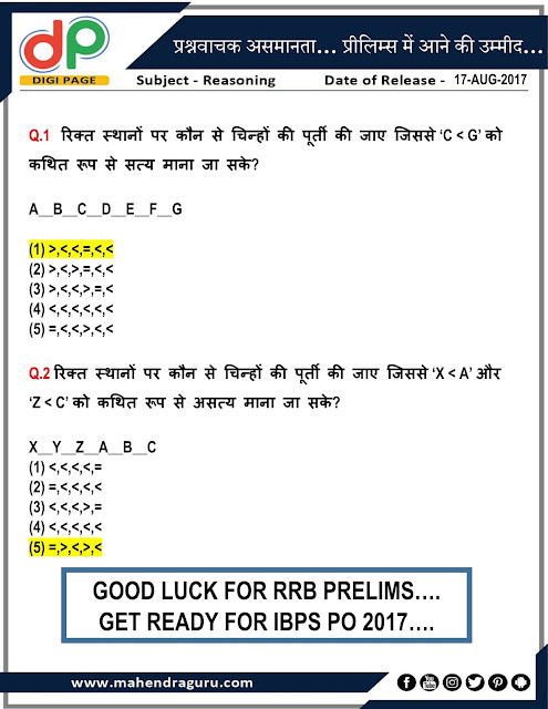 DP | Strategy For IBPS RRB 2017- Inequality | 17 - Aug - 17