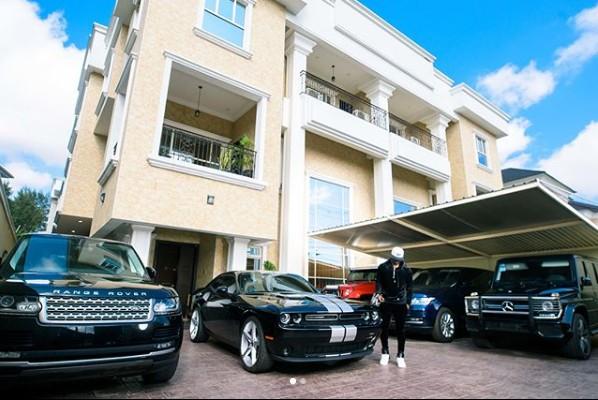 Peter Okoye Shows-off His Ikoye House And Fleet Of Cars