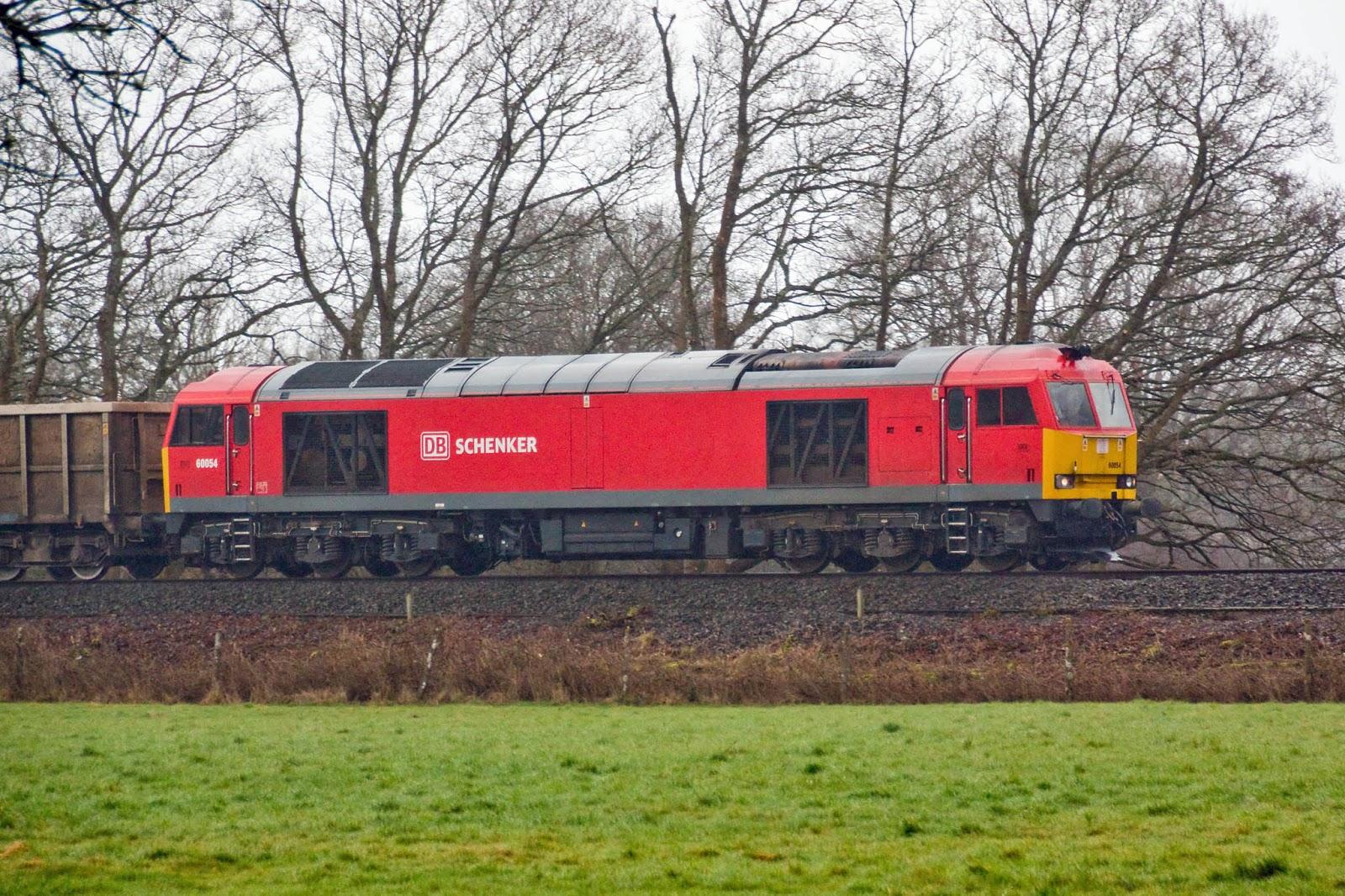 60054 7V52 13:15 Hamworthy - Whatley, seen passing Crampmoor.