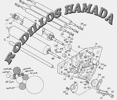 Medidas rodillos Hamada 700 y 800
