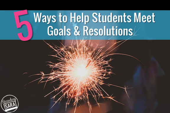Our students will not have us around forever to help them meet their SMART goals or new years' resolutions, so we need to set them up for success now and provide them with the tools they need to be successful. In this post I explore five different ways that we can help students achieve their goals and resolutions. Some work with a common enemy, some work with student choice, and some work with identifying the root cause. I've included a free teacher resolution download for you, too!