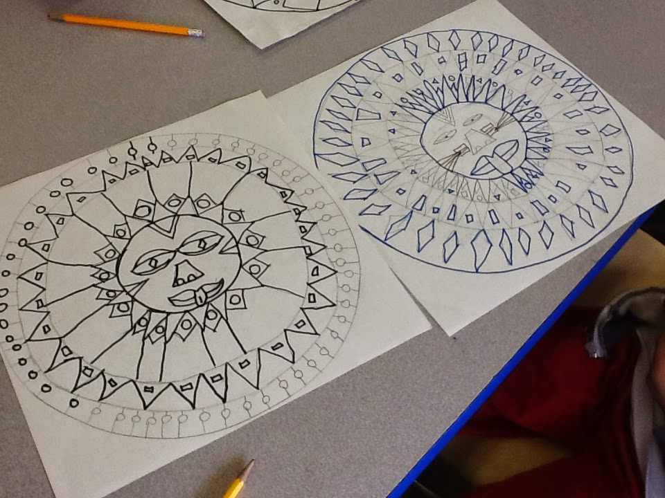art inklings: How To Draw Aztec Sun Stones