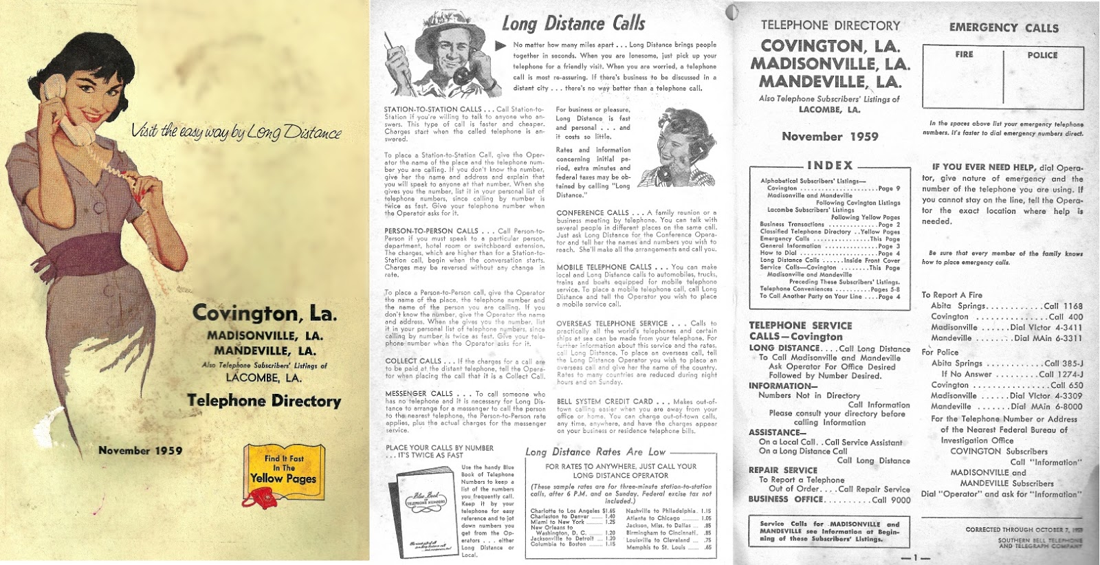 Tammany Family: Covington Phone Book -1959: Residential Listings