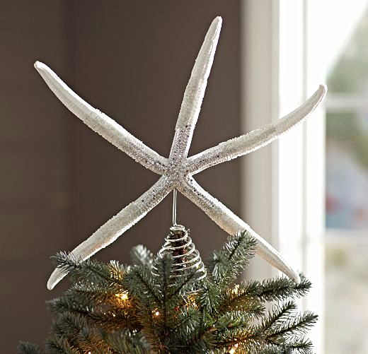 Starfish Christmas Tree Topper Idea
