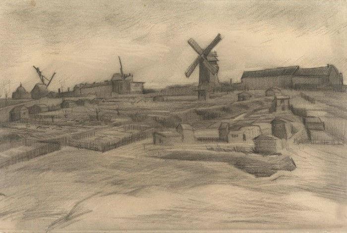 Холм Монмартра, Винсент ван Гог, 1886 г.