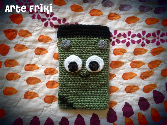 funda móvil smartphone crochet ganchillo