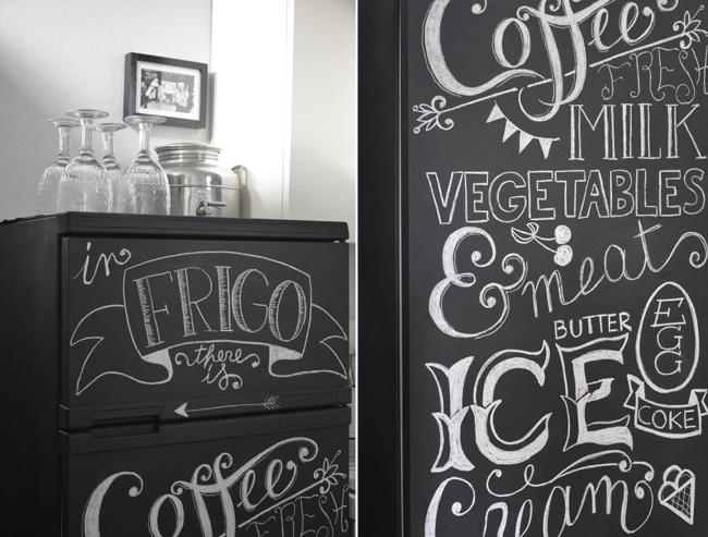 The marthy 39 s vintage garden diy frigo lavagna - Vernice per ante cucina ...