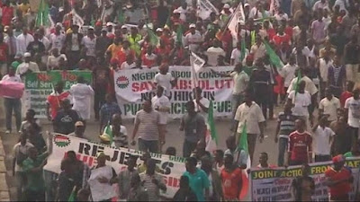 nigeria strike protest