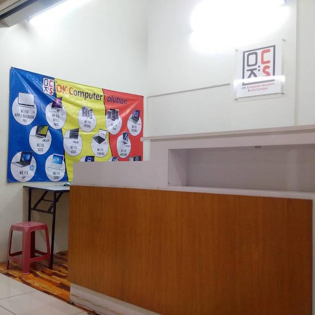 LOKASI OK COMPUTER SOLUTION KUALA LUMPUR | KEDAI REPAIR LAPTOP CHERAS 7