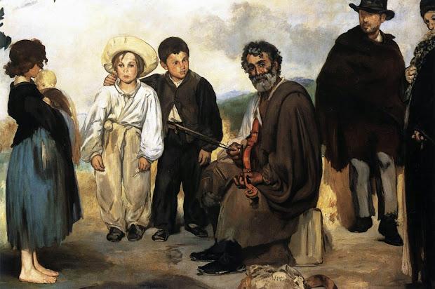 """Le Muse Edouard Manet """"il Vecchio Musicista"""" 1862"""