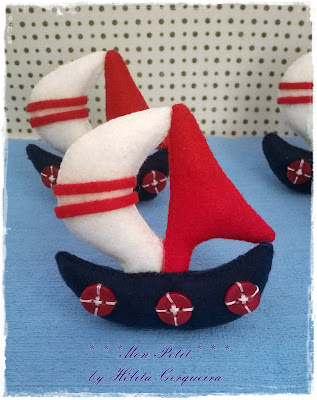 lembrancinha-maternidade-em feltro-tema marinheiro-ursinho marinheiro em feltro-handmade-felt