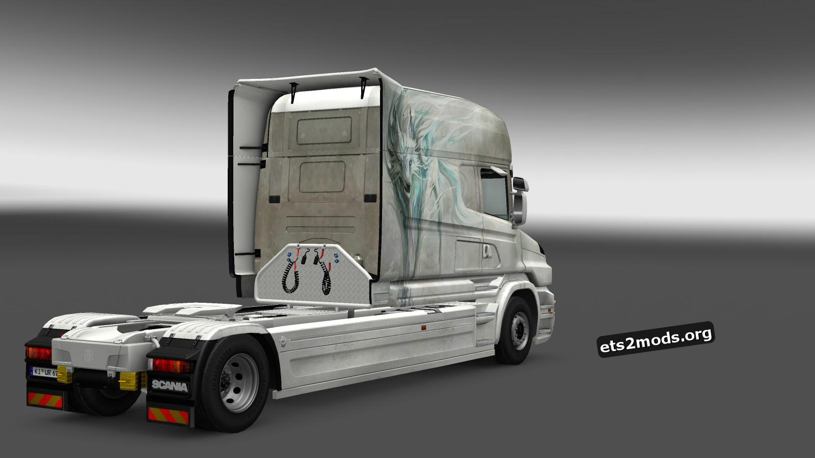 White Fox Skin Scania T Longline
