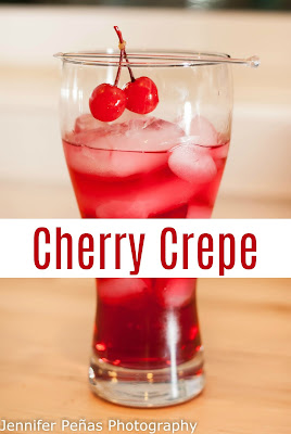 Cherry Crepe with it's cherry vodka, amaretto and cranberry juice, it's sure to keep you refreshed.