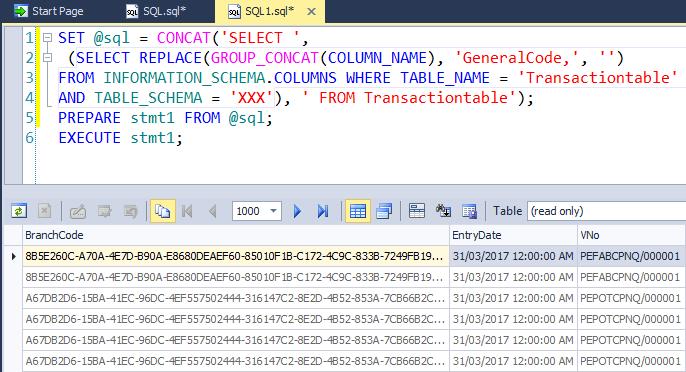 Select all columns except one in MySQL? Mysql select all column