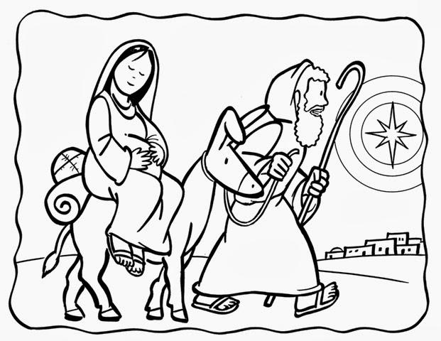 Dibujos De Jesús María Y José Para Colorear
