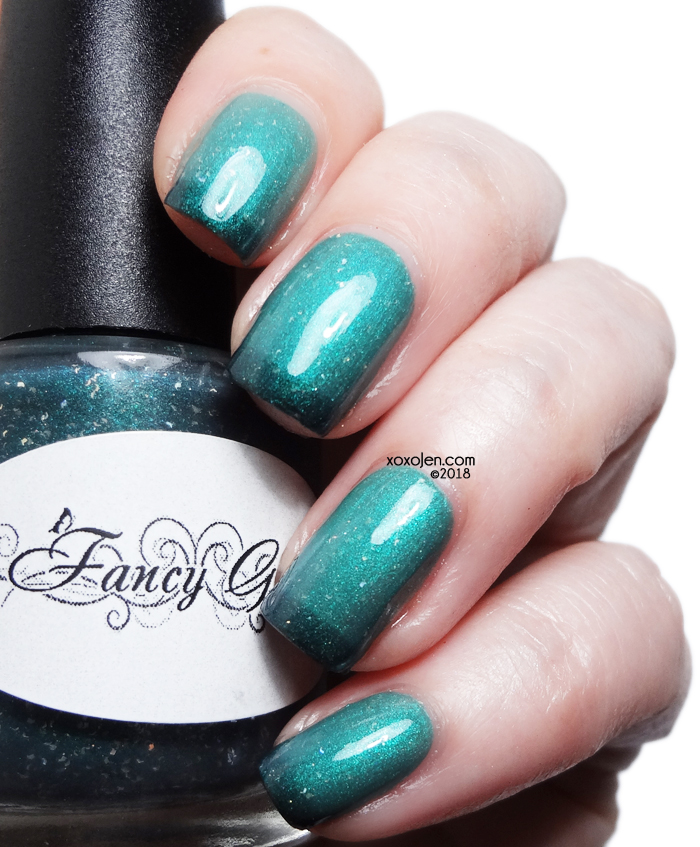 xoxoJen's swatch of Fancy Gloss Polish The Town's Dark Fate