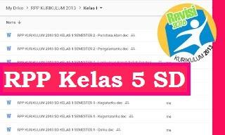 RPP K13 Revisi 2018 SD Kelas 5 Semester 1 Tema 2 Udara Bersih