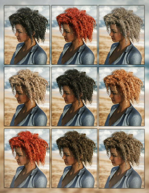 Lani Hair for Genesis 3 Female