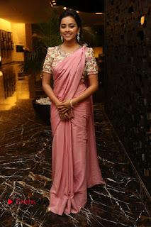 Actress Sri Divya Stills in Saree at Rayudu Movie Audio Launch  0112.JPG