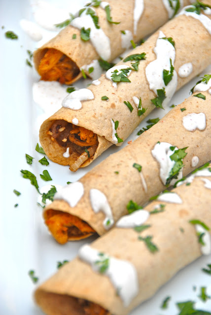 baked chicken flautas crispy mexican