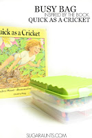 Quick as a cricket book activity