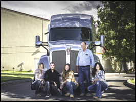 Great Basin students with the Kenworth T680