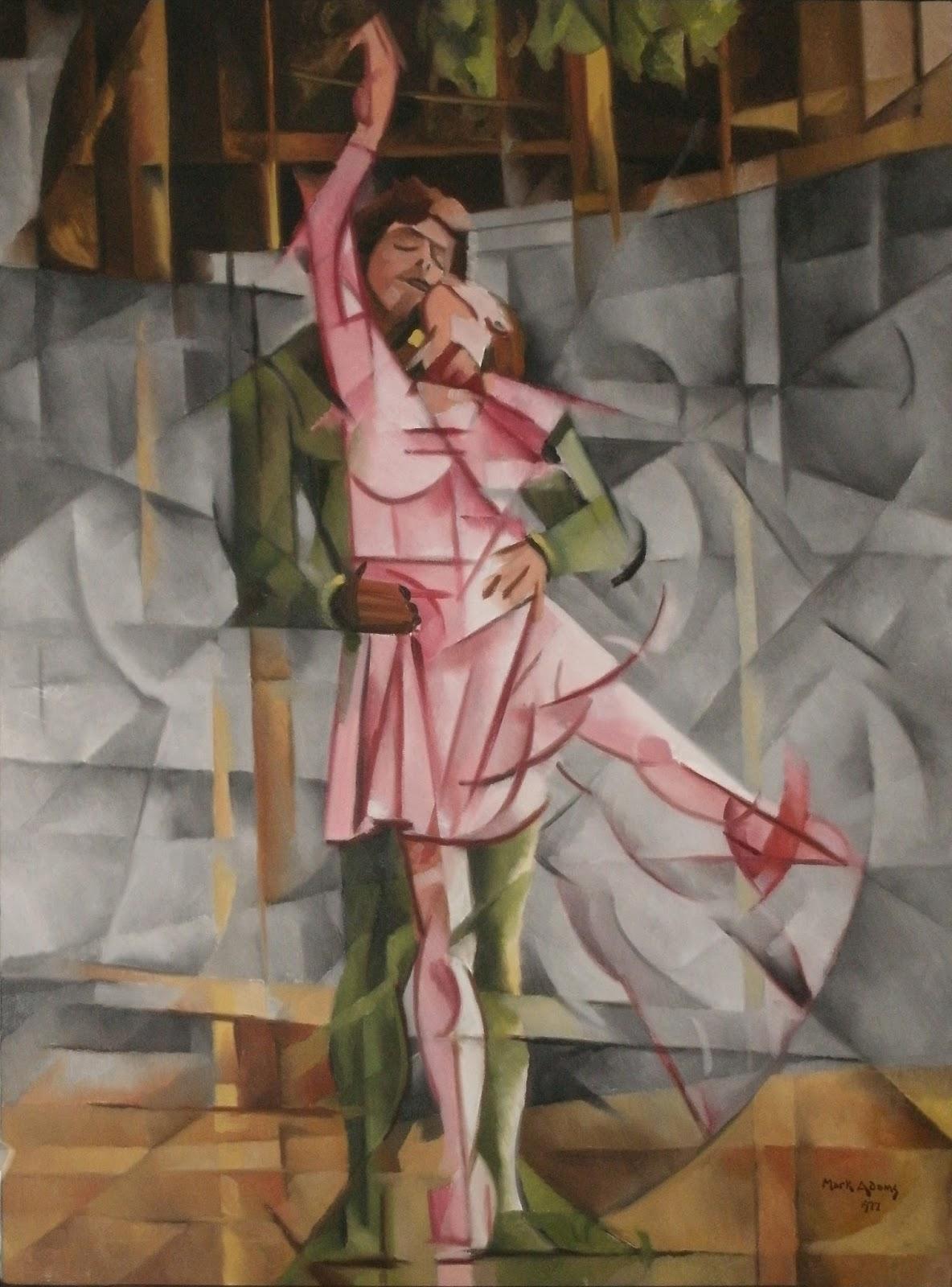 "Mark Adams Studio: Friday Flashback - ""Cubist Dancers"""