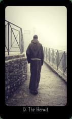 The Hermit tarot card image