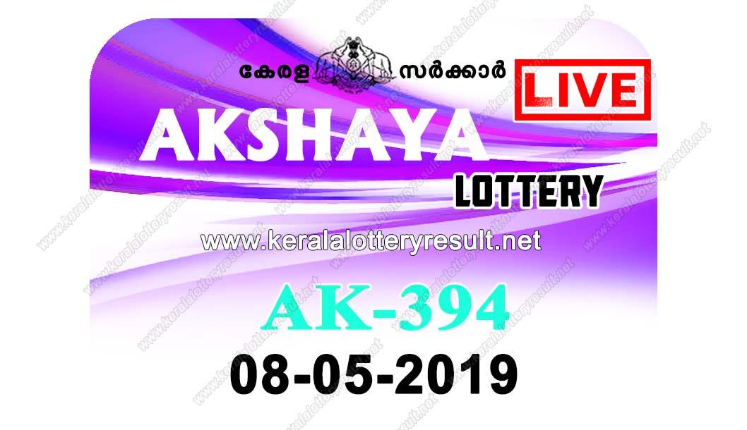 Kerala Lottery Result 08/05/2019 ; Akshaya Lottery Results