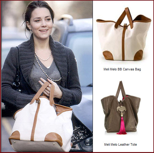 f39a9b869cb34 ... Kate Middleton s frequency of use. The Duchess was seen with this  tote carryall on several occasions prior to the wedding. It is the Meli Melo  BB Canvas ...