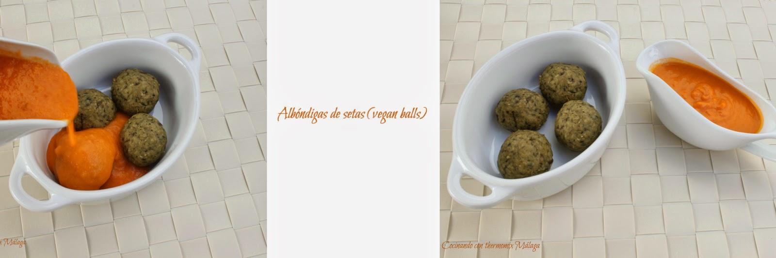 Albóndigas de setas (vegan balls)