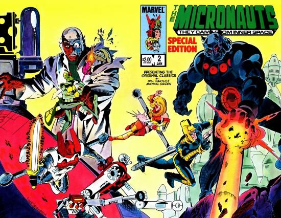 Micronauts Special Edition Vol 1 #2, portada de Butch Guice y Josef Rubinstein
