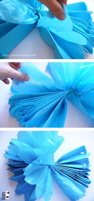 Arte Color Flores De Papel Seda Papel China O Papel Crepe