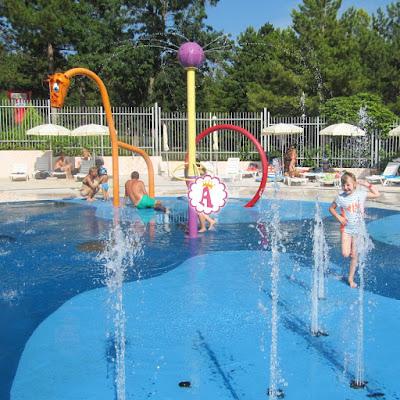 Площадка с фонтанами в аквапарке Aquamania Albena