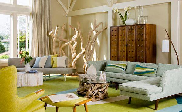 Chocolate Brown Mint Color Scheme Living Room Ideas