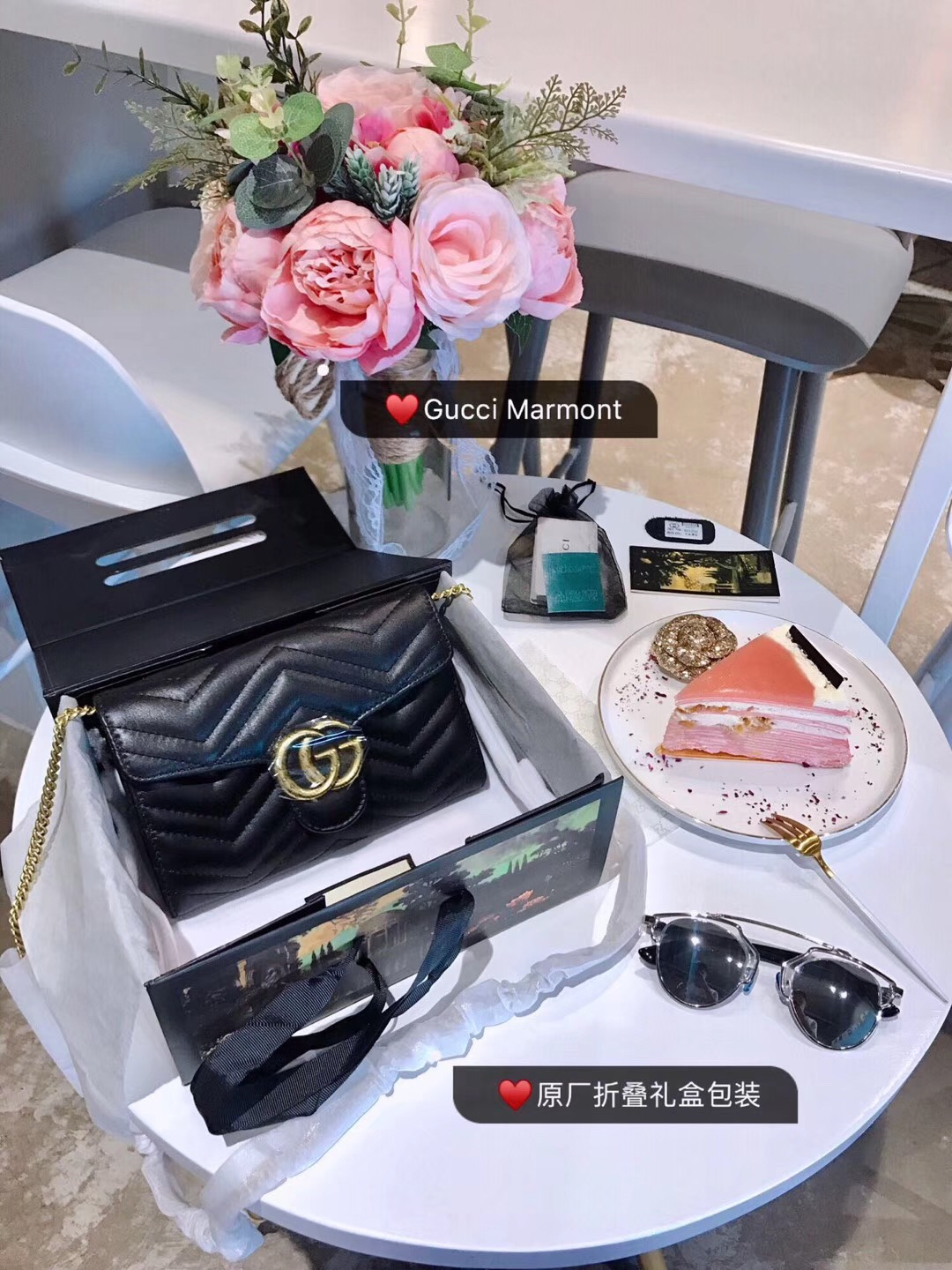 3f6d1e3b77f WE Do Love Luxury  GUCCI GG Marmont Matelassé Mini Bag Style ...