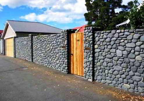 Desain Pagar Rumah Batu Alam Natural