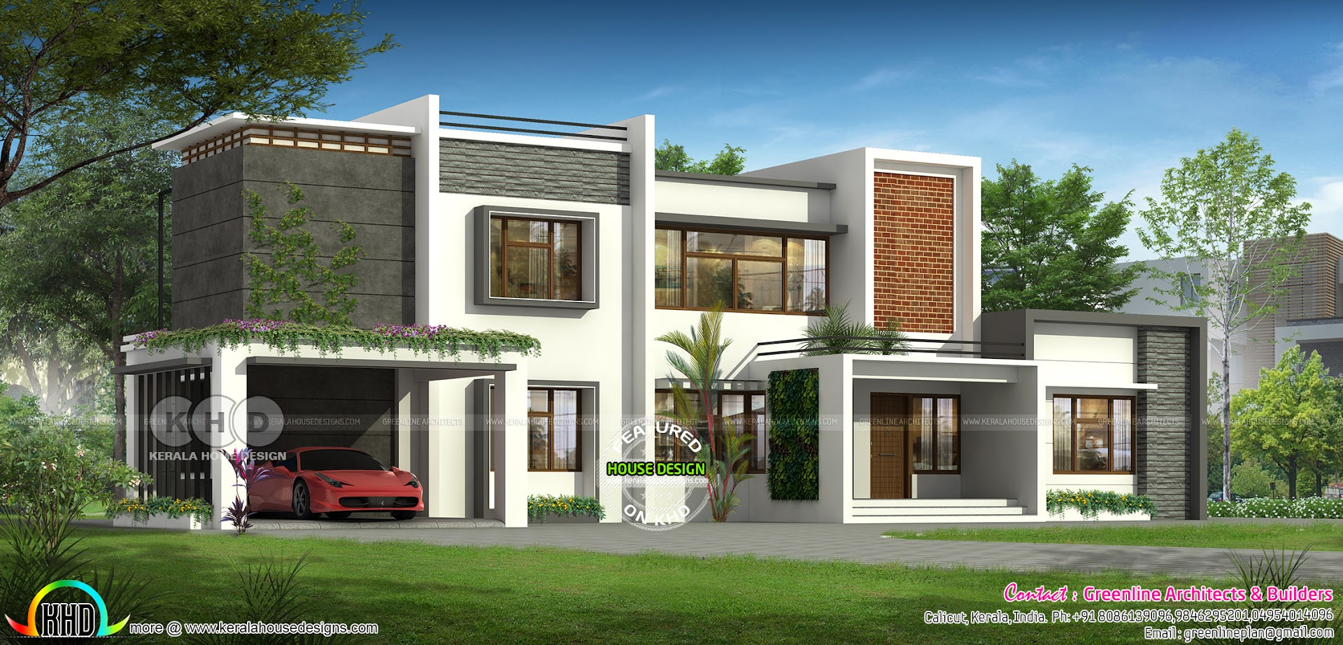 5 bedroom luxury modern house plan design