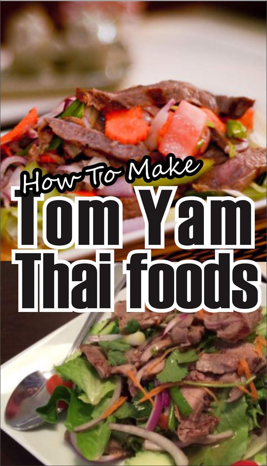 HOW TO MAKE TOM YAM THAI FOODS