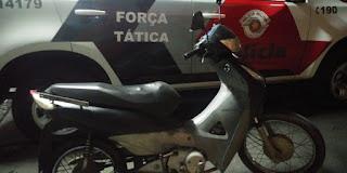 Força Tática recupera motocicleta roubada