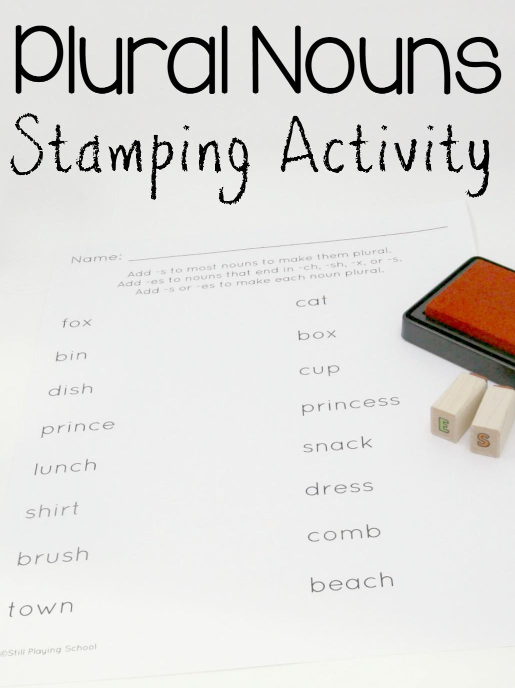 Stamping Plural Nouns