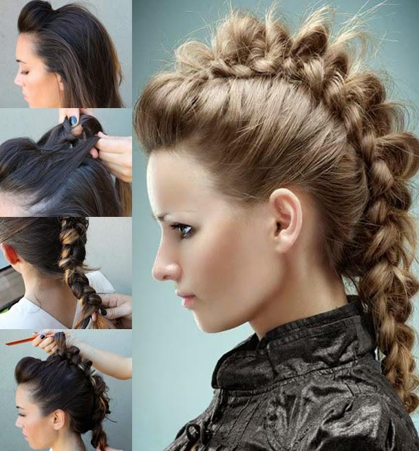 Simple y con estilo peinados cresta Fotos de ideas de color de pelo - 10 BELLESALUD: PEINADOS DE FIESTA PASO A PASO. Vídeos ...