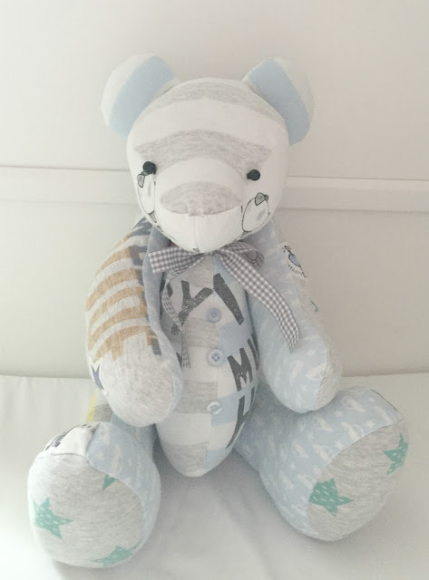 Forever Memory bear made from baby clothes great keepsake